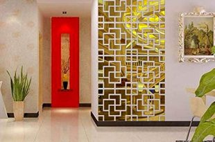 CWLLWC Spiegelwand Aufkleber, Stereo-im-Quadrat Raumhintergrund Aufkleber Möbel Schmuck Wand Sticker Acryl einfügen, 6 Informa D