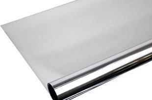 Rapid Teck 300 x 91 cm Spiegelfolie Kratzfest Sonnenschutzfolie UV Schutz Sichtschutzfolie 99% UV-Schutz selbstklebend