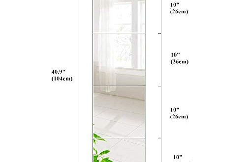 AUFHELLEN Wandspiegel 6 Stueck 26x26cm aus Glas Spiegel HD DIY 500x330 - AUFHELLEN Wandspiegel 6 Stück 26x26cm aus Glas Spiegel HD DIY Rahmenlos Spiegelfliesen an der Tür für Bad- oder Wohnzimmer