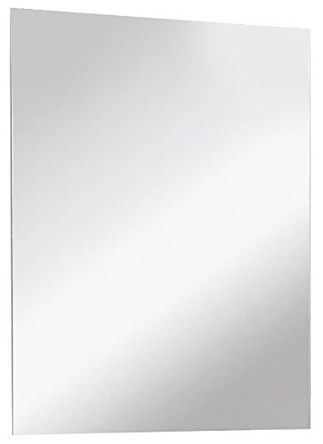 FACKELMANN Spiegel/Wandspiegelelement mit Befestigung/Maße (B x H x T): ca. 70 x 60 x 2 cm/hochwertiger, moderner Badspiegel/hoch und quer verwendbarer Badezimmerspiegel/Breite 70 cm